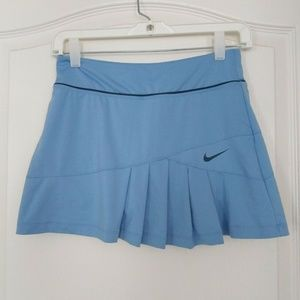 Nike Pleated Tennis Skirt Skort Small Blue Womens